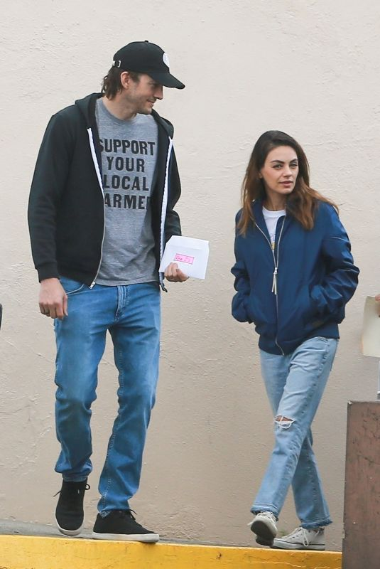 MILA KUNIS and Ashton Kutcher Out in Los Angeles 03/11/2020