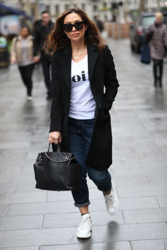MYLEENE KLASS Arrives at Global Offices in London 03/19/2020