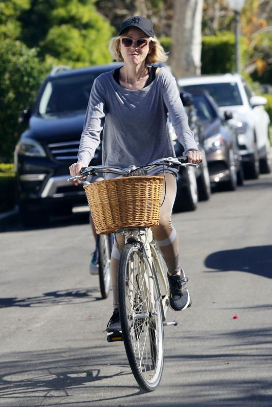 NAOMI WATTS Out Riding a Bike in Brentwood 03/25/2020
