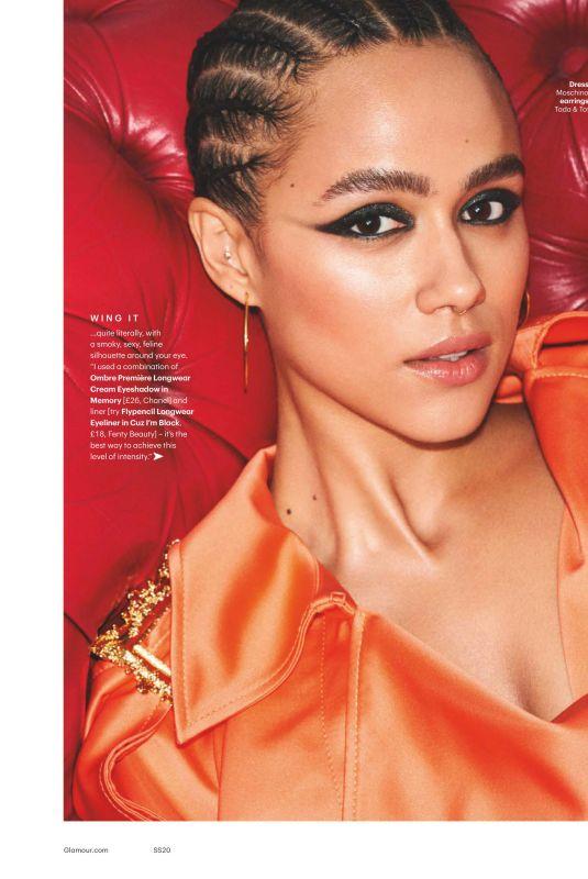 NATHALIE EMMANUEL in Glamour Magazine, UK March 2020