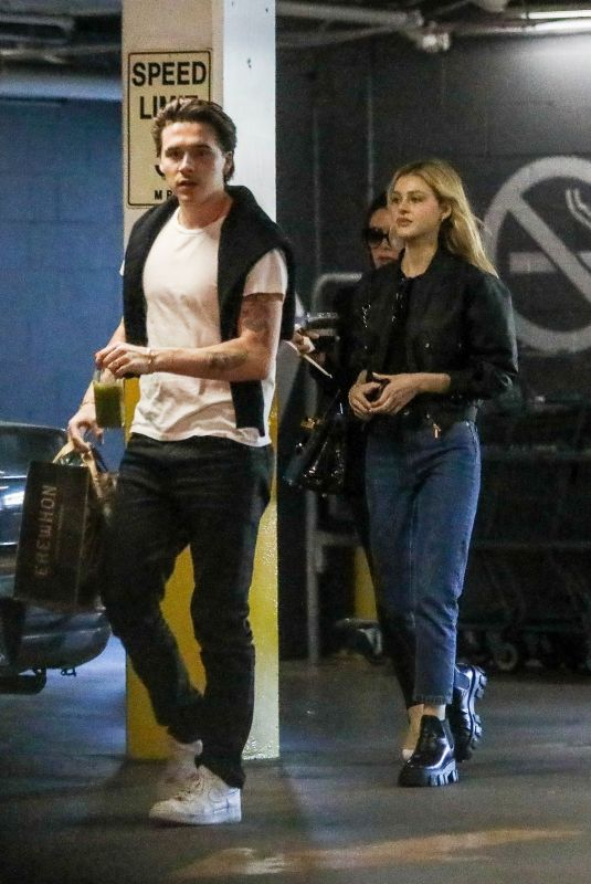 NICOLA PELTZ and VICOTIRA and Brooklyn BECKHAM Shopping at Erewhon in West Hollywood 03/03/2020