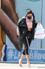 NICOLE MURPHY Wearing a Face Mask Out Shopping in Los Angeles 03/30/2020