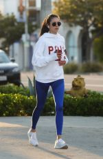 NINA DOBREV Out Jogging in Los Angeles 03/26/2020