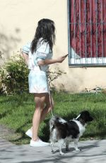 NINA DOBREV Out with Her Dog in Los Angeles 03/25/2020