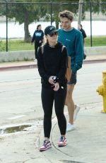 OLIVIA WILDE Out at a Park in Los Angeles 03/26/2020