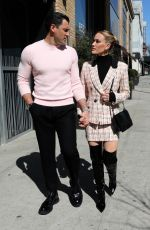 PETA MURGATROYD and Maksim Chmerkovskiy Out at Times Square 03/09/2020