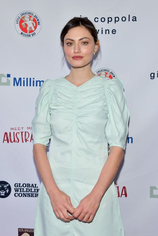 PHOEBE TONKIN at Greater Los Angeles Zoo Association Hosts Meet Me in Australia 03/08/2020