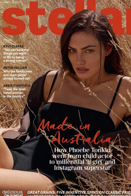 PHOEBE TONKIN in Stellar Magazine, Australia March 2020