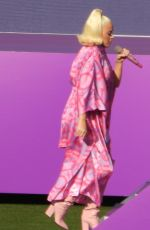 Pregnant KATY PERRY Performs at Women