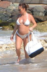 Pregnant LAURYN GOODMAN in Bikini at a Beach in Tenerife 03/21/2020