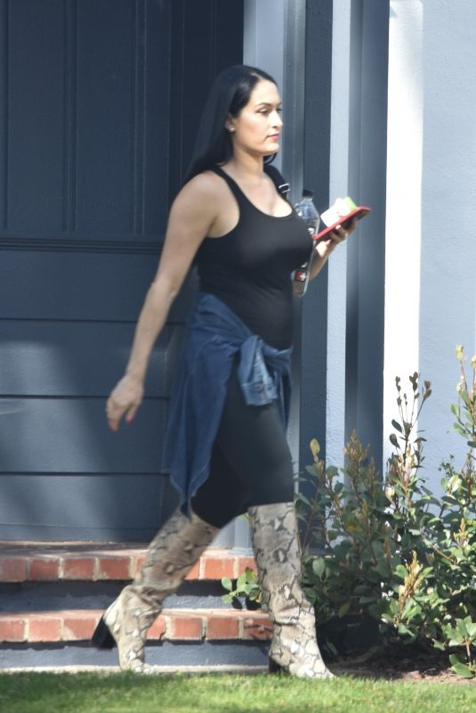Pregnant NIKKI BELLA Out in Brentwood 02/29/2020