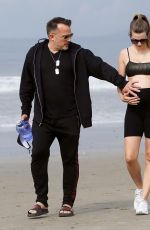 Pregnant RACHEL MCCORD Out at a Beach in Venice 03/15/2020