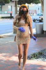 Pregnant RACHEL MCCORD Wearing Mask Out in Santa Monica 03/30/2020