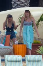 Pregnant SOPHIE TURNER and Joe Jonas on Erly Baby Moon in Cabo San Lucas 03/07/2020