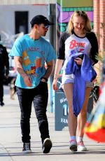 Pregnant SOPHIE TURNER and Joe Jonas Out for Lunch in Studio City 03/06/2020