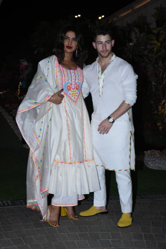 PRIYANKA CHOPRA and Nick Jonas at Isha Ambani's Holi Party in Mumbai 03/06/2020