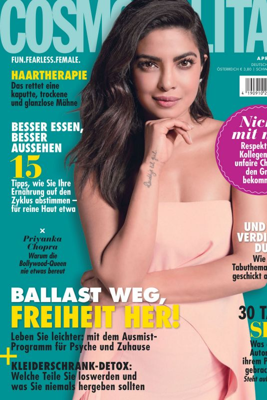 PRIYANKA CHOPRA in Cosmopolitan Magazine, Germany April 2020