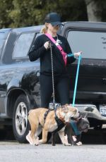 REESE WITHERSPOON Out with Her Dogs in Pacific Palisades 03/24/2020