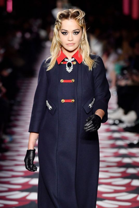 RITA ORA at Miu Miu Fall/Winter 2020 Runway Show at Paris Fashion Week 03/03/2020