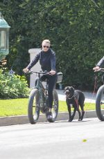 ROBIN WRIGHT and Clement Giraudet Out Riding Bikes in Los Angeles 03/28/2020