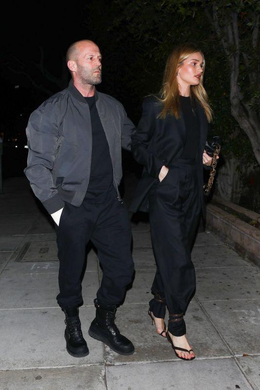 ROSIE HUNTINGTON-WHITELEY and Jason Statham at Matsuhisa in Beverly Hills 03/06/2020