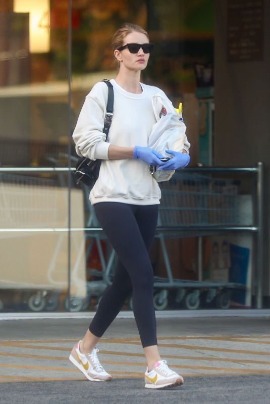ROSIE HUNTINGTON-WHITELEY with Mask Shopping at Rite Aid in Los Angeles 03/25/2020