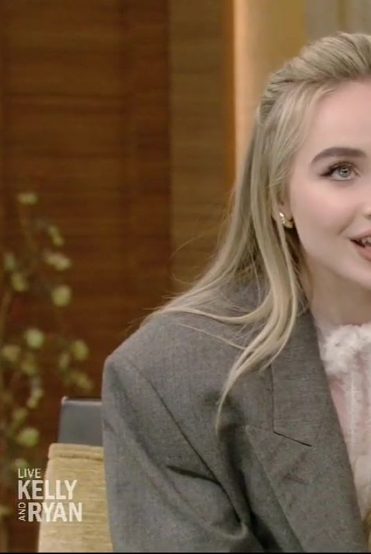 SABRINA CARPENTER at Live with Kelly and Ryan in New York 03/03/2020