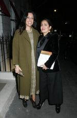 SALMA HAYEK and Francois-Henri Pinault Out for Dinner in London 03/12/2020