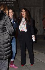 SALMA HAYEK Leaves British Vogue