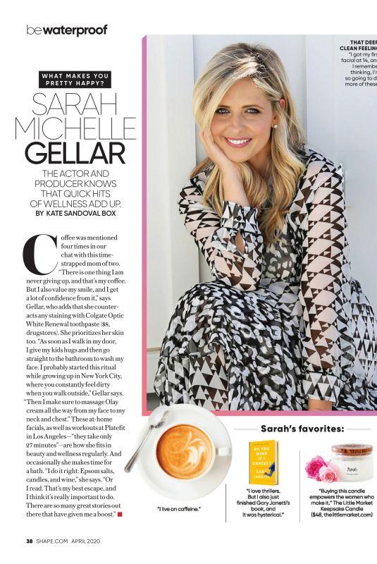SARAH MICHELLE GELLAR in Shape Magazine, April 2020