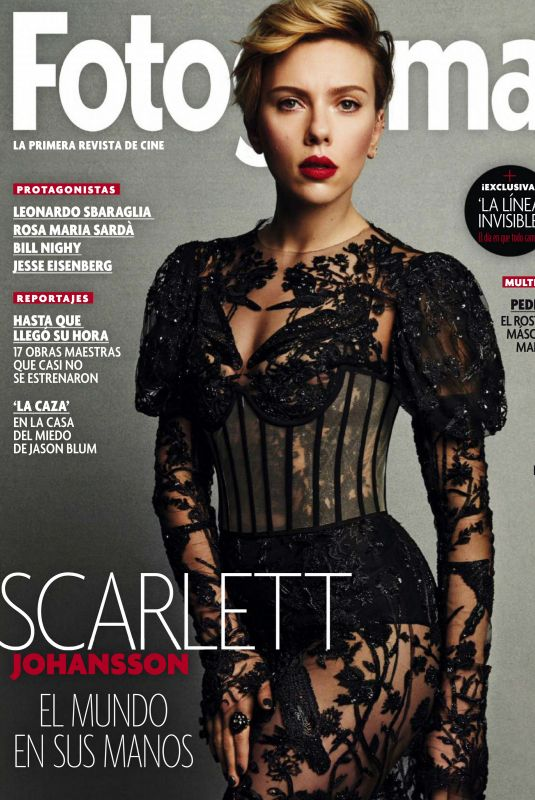 SCARLETT JOHANSSON in Fotogramas Magazine, April 2020