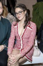 SHAILENE WOODLEY Arrives at Giambattista Valli Fashion Show in Paris 03/02/2020