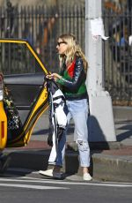 SIENNA MILLER Leaves a Taxi in New York 03/04/2020