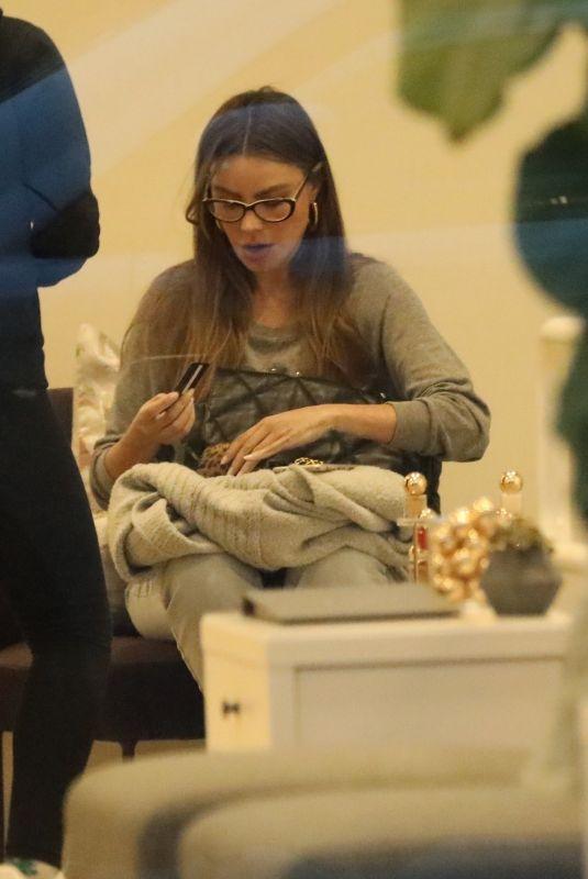 SOFIA VERGARA at a Nail Salon in Beverly Hills 03/09/2020