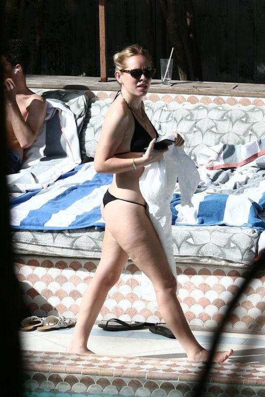 TANYA BURR in Bikini at a Pool in Miami 03/11/2020