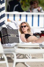 TANYA BURR in Bikini on the Beach in Miami 03/11/2020