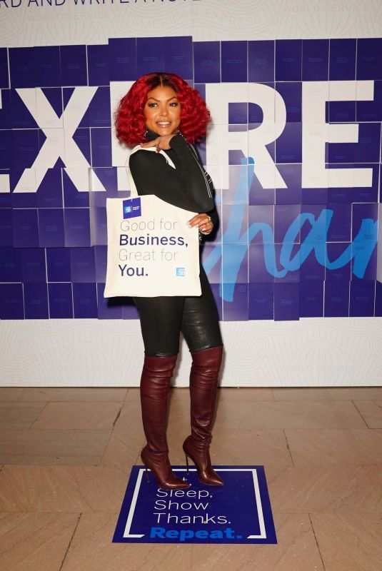 TARAJI P. HENSON at #expressthanks by American Express Pop Up Cafe Launch in New York 03/06/2020