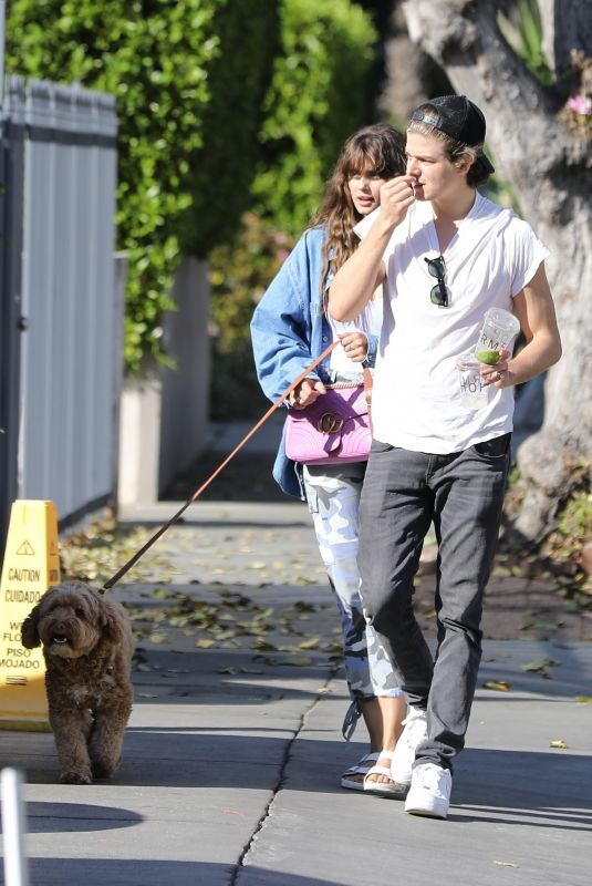 TAYLOR HILL and Daniel Fryer Out with Their Dog in Los Angeles 03/02/2020