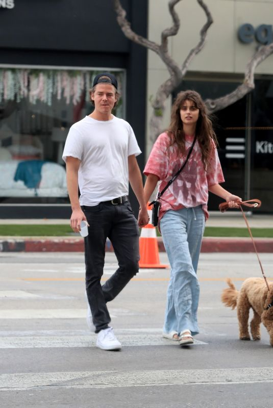 TAYLOR HILL and Daniel Fryer Out with Their Dog in West Hollywood 02/29/2020