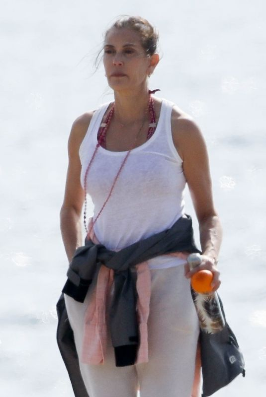 TERI HATCHER Out on the Beach in Malibu 03/07/2020