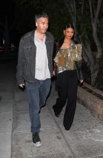 THANDIE NEWTON and Ol Parker Night Out in Beverly Hills 03/06/2020
