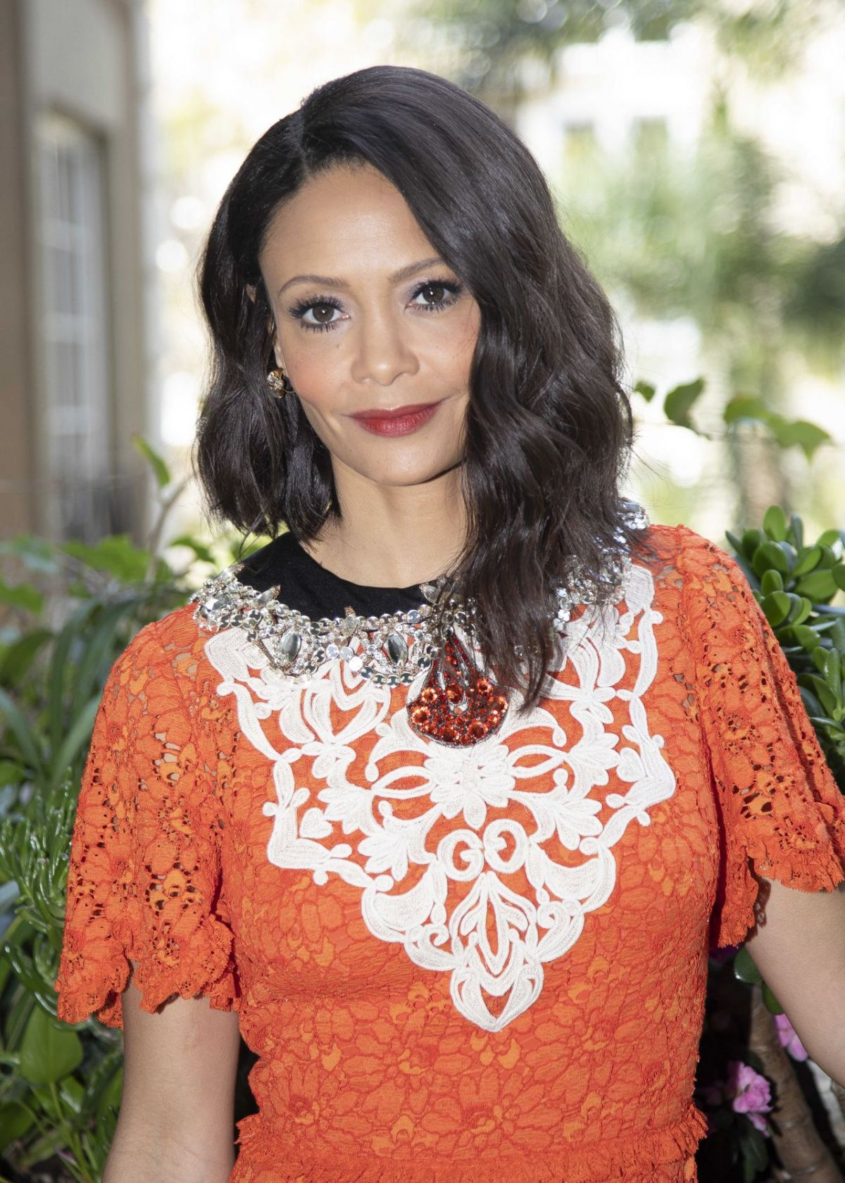THANDIE NEWTON at Emmy Awards 2018 in Los Angeles 09/17
