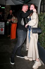 TIMEA PALACSIK and Zoltan Rathonyi at Madeo Restaurant in Beverly Hills 03/13/2020