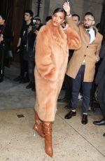 TINA KUNAKEY Arrives at Stella McCartney Fashion Show in Paris 03/02/2020