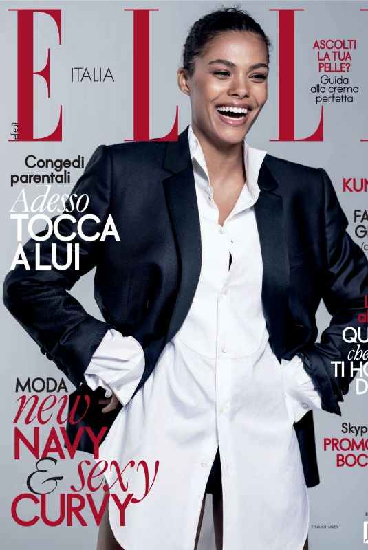 TINA KUNAKEY in Elle Magazine, Italy March 2020