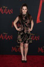 VANESSA MARANO at Mulan Premiere in Hollywood 03/09/2020