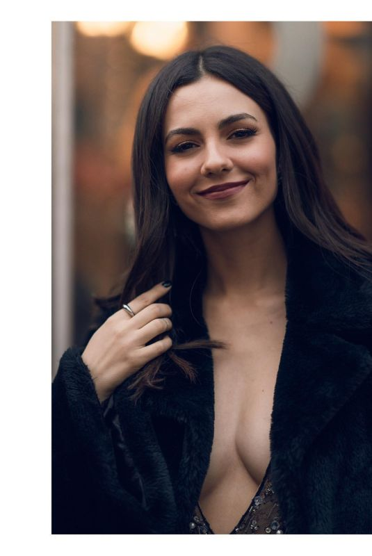 VICTORIA JUSTICE at a Photoshoot in New York, February 2020