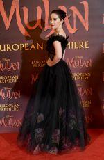 YIFEI LIU at Mulan Premiere in London 03/12/2020
