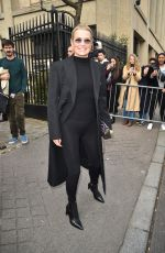 YOLANDA HADID Arrives at Miu Miu Fashion Show in Paris 03/03/2020