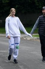 ABBY CHAMPION and Patrick Schwarzenegger Out in Brentwood 04/07/2020